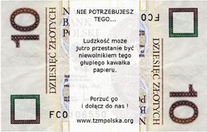 10 Polish ZBank Note - Version by Piotr - piotr@legosz.pl