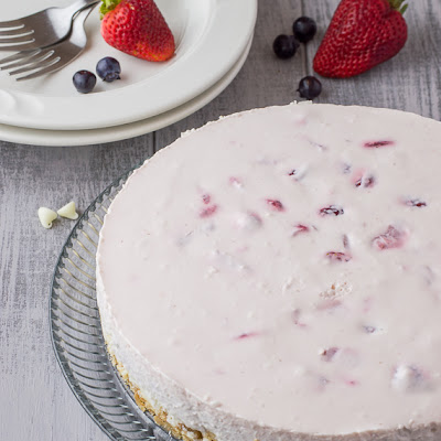No Bake Berry Cheesecake