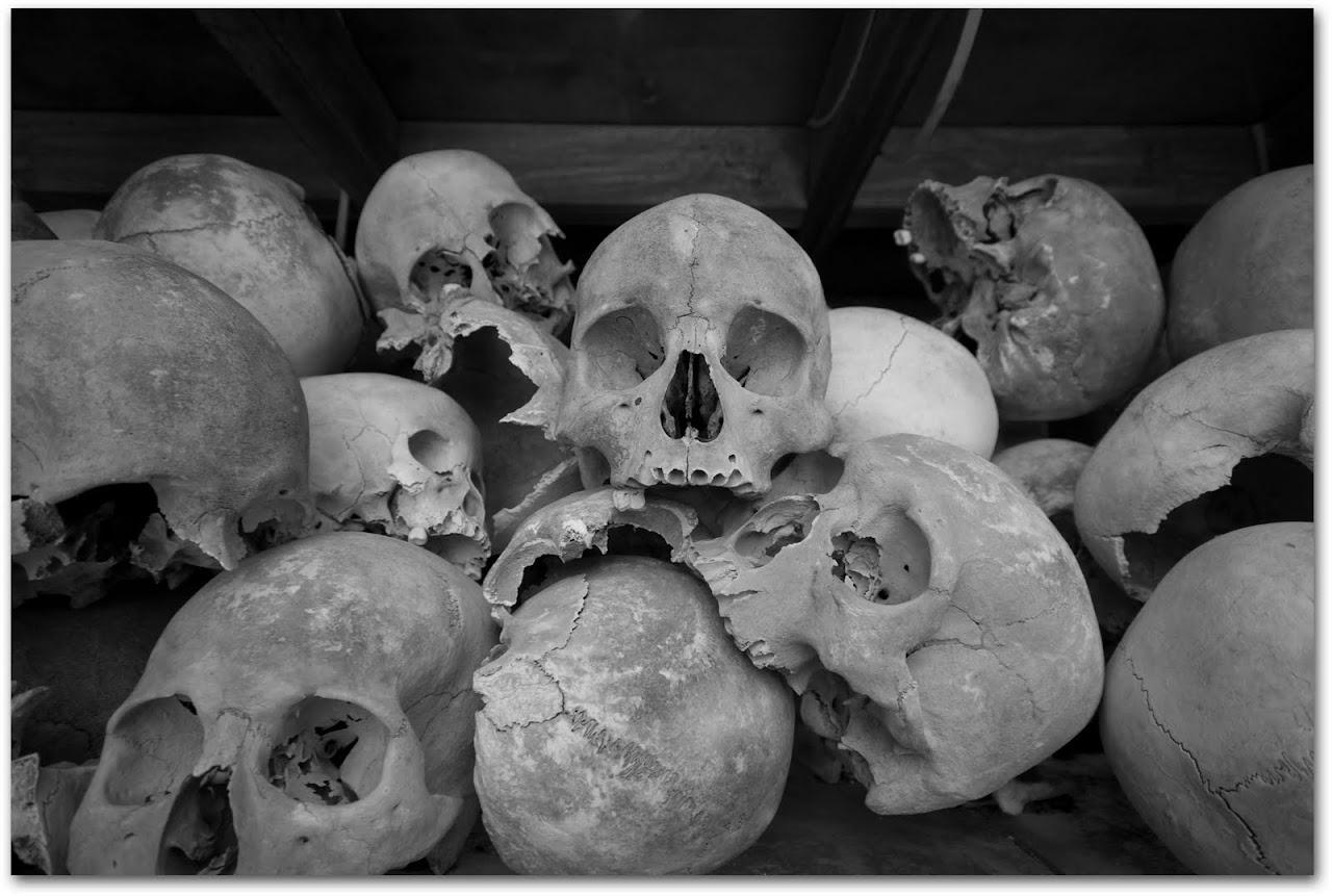 Skulls in stupa