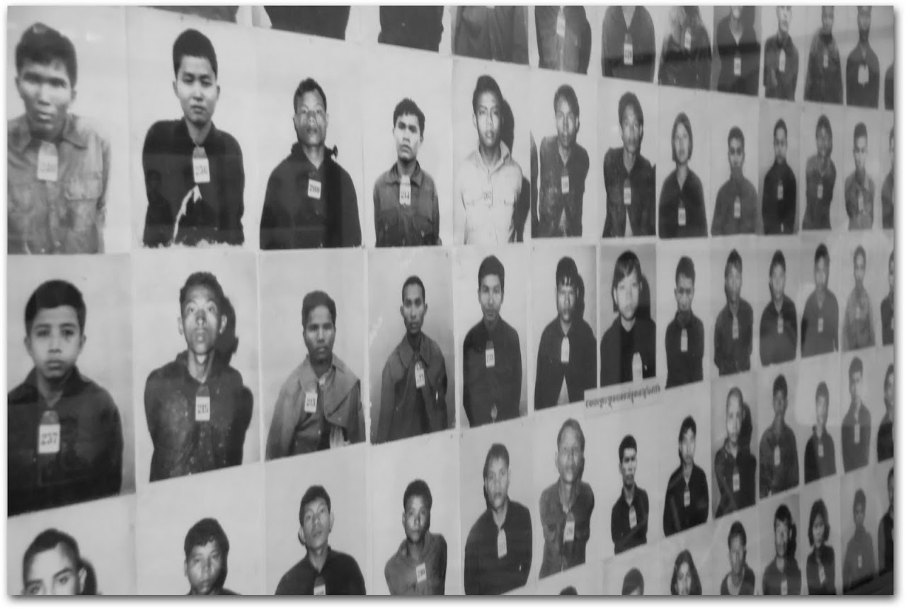 Photographs of prisoners killed at Tuol Sleng
