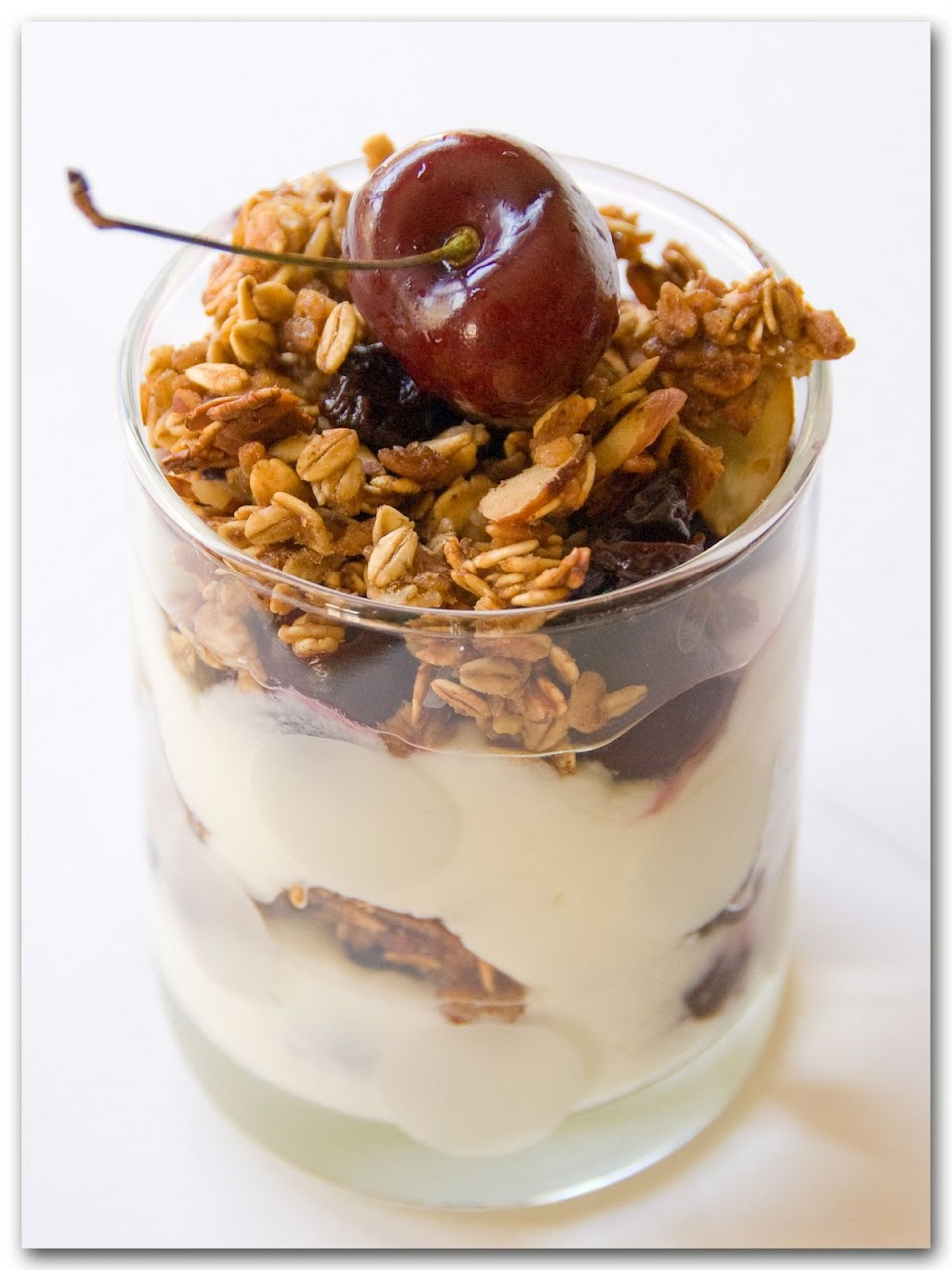 Granola with cherries