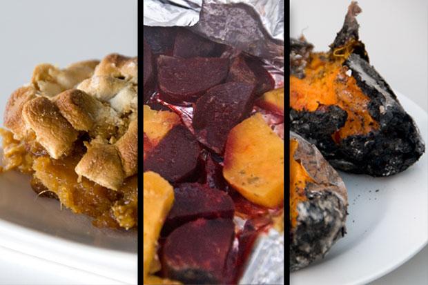 Sweet potatoes, three ways