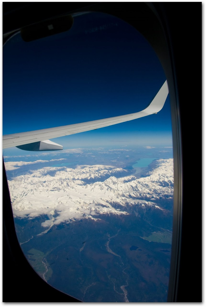 New Zealand Western Alps by plane