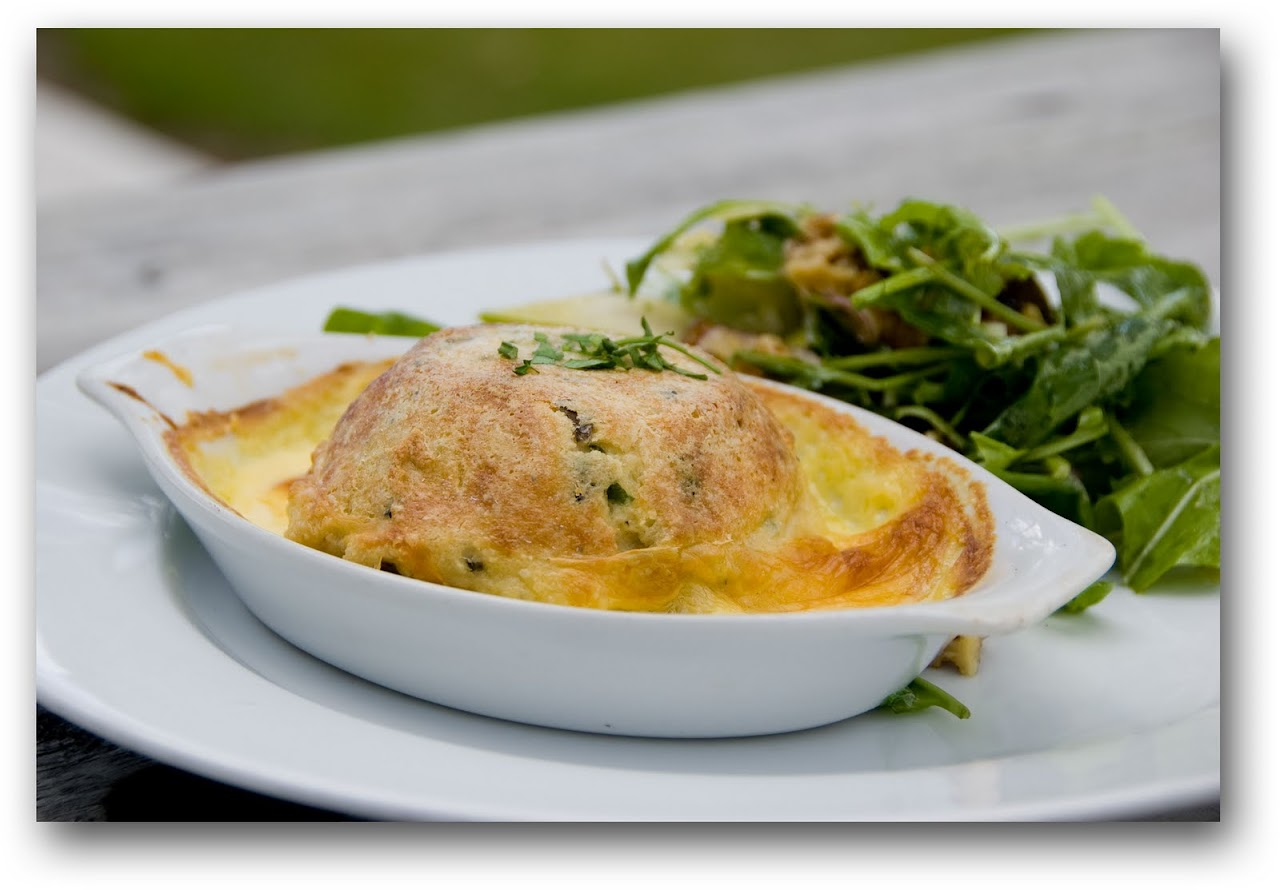 Blue cheese souffle at Wairau River