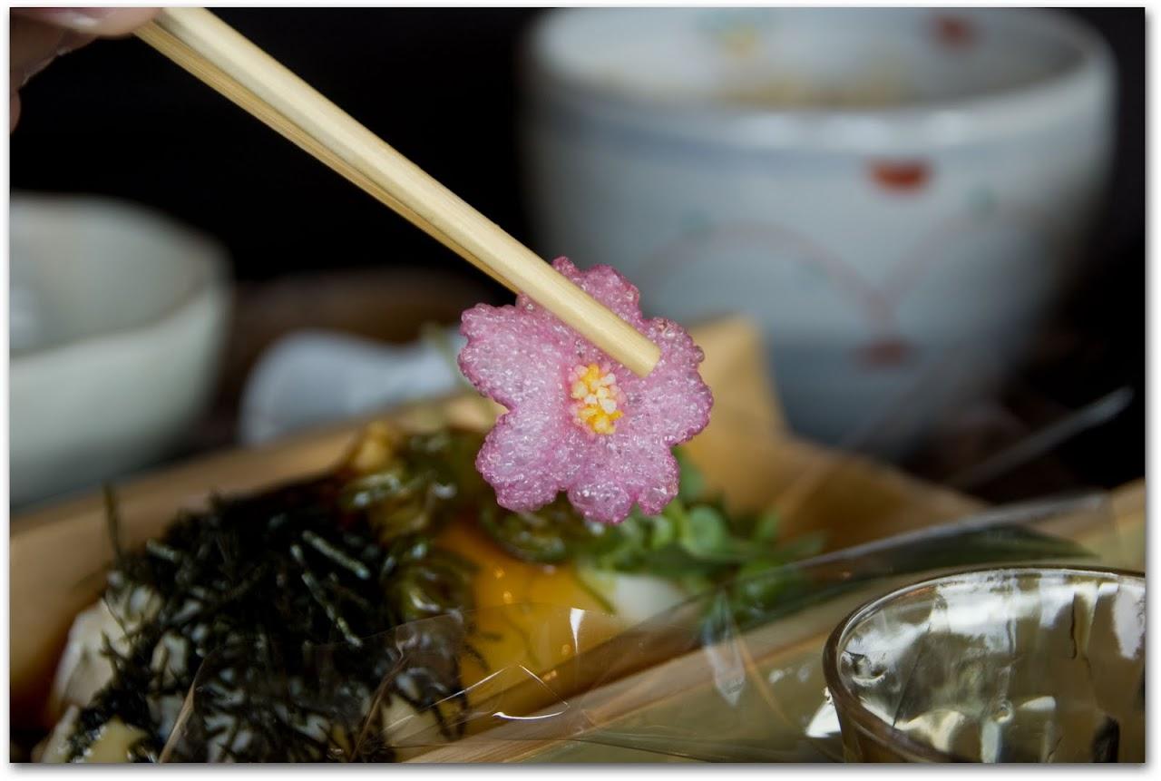 Hibiscus flower tempura
