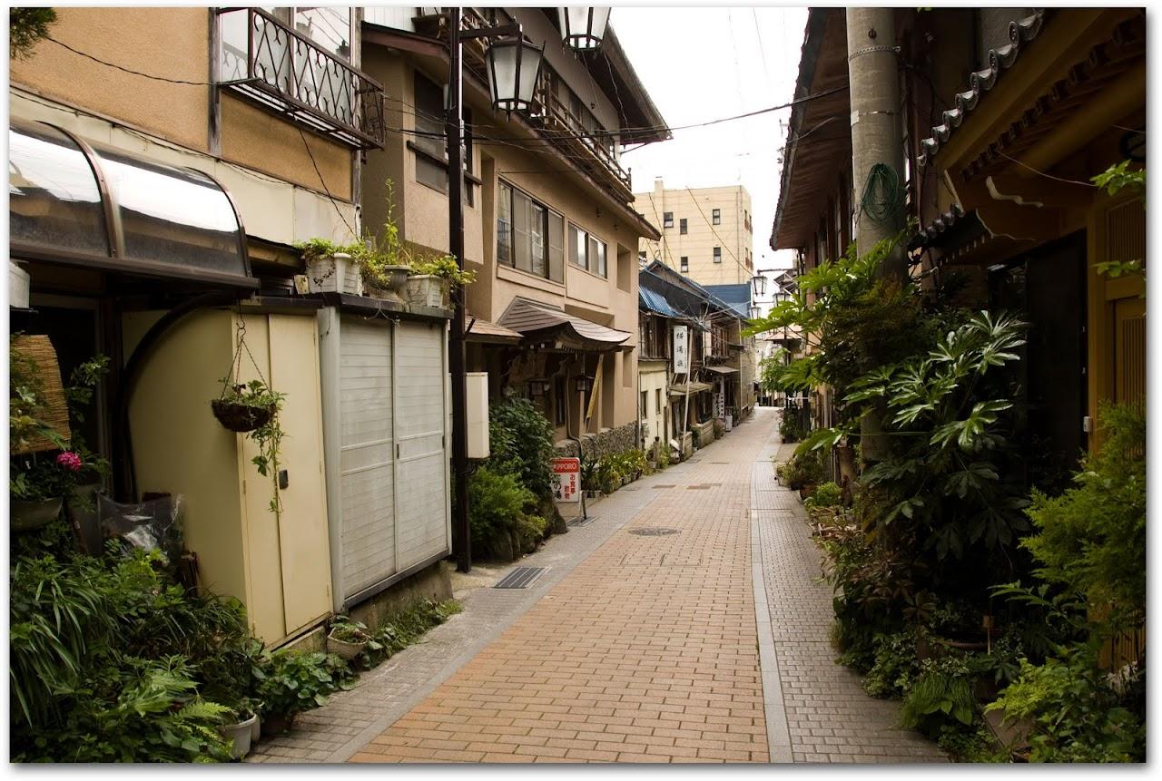 Onsen town near Jigokudani