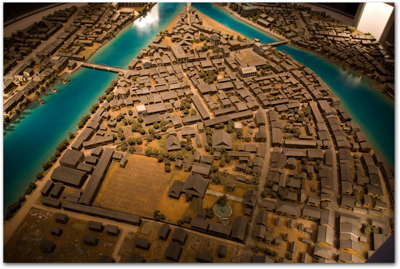 Model of Hiroshima before the atom bomb