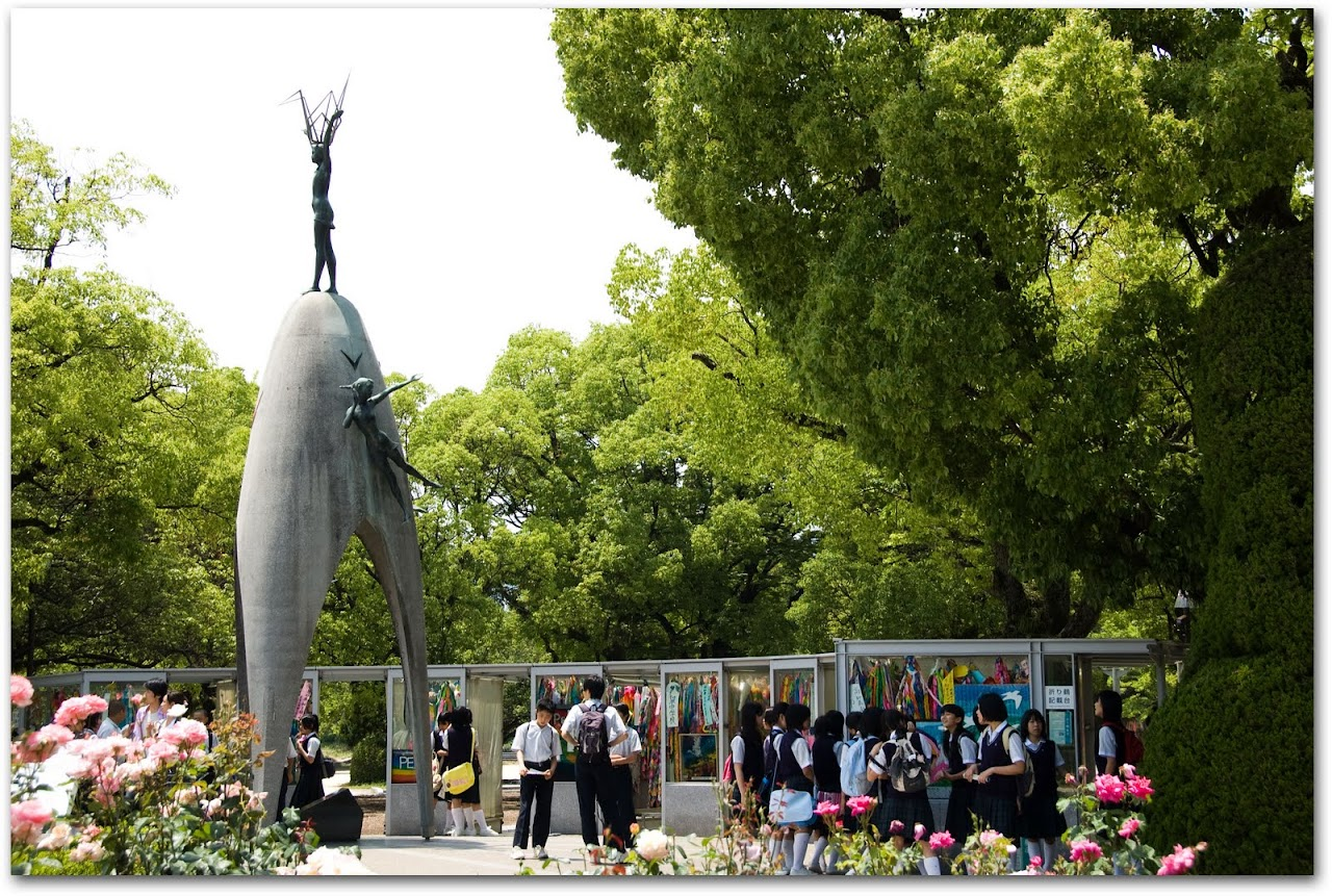 Children at Peace Memorial Hiroshima