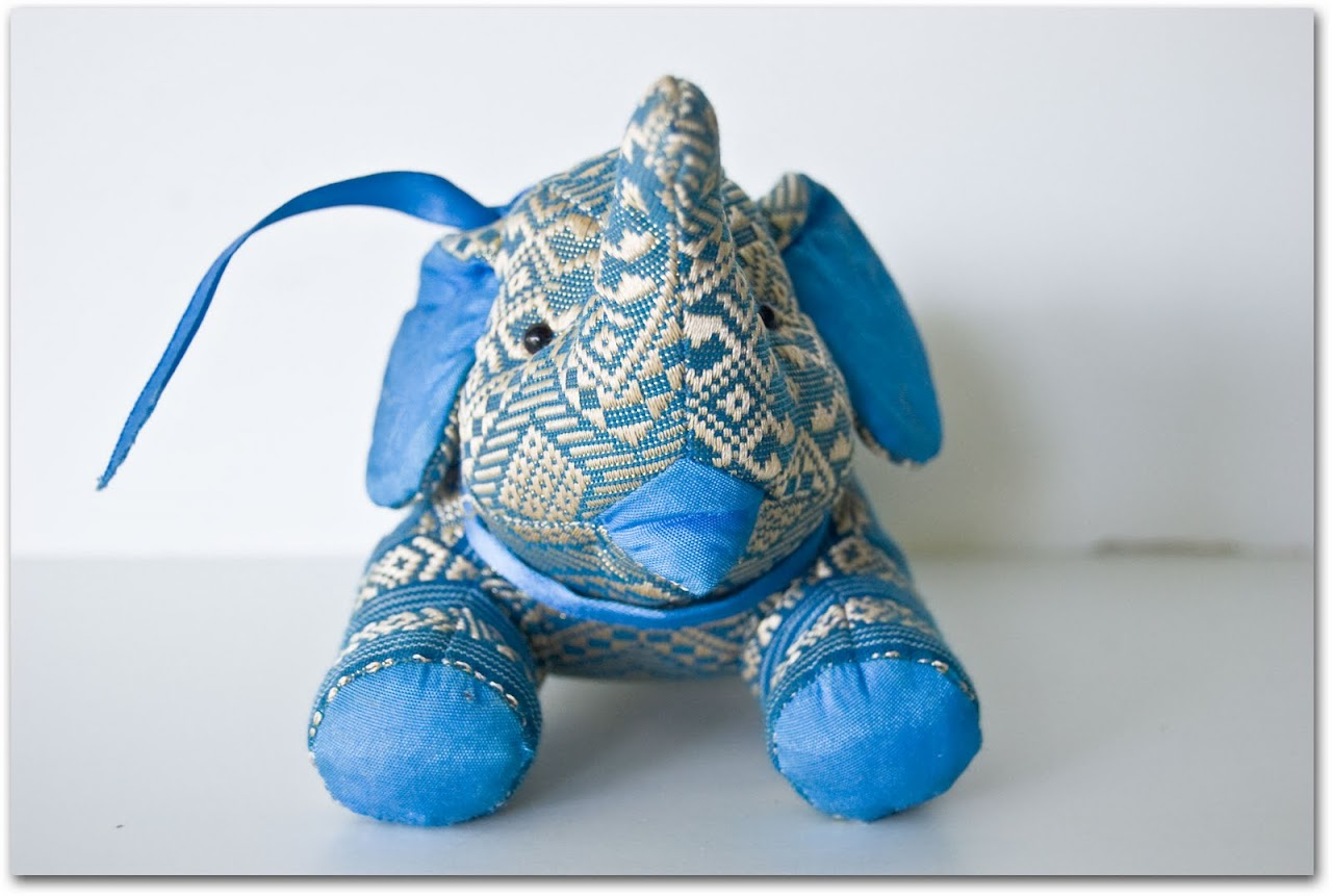 Silk elephant toy
