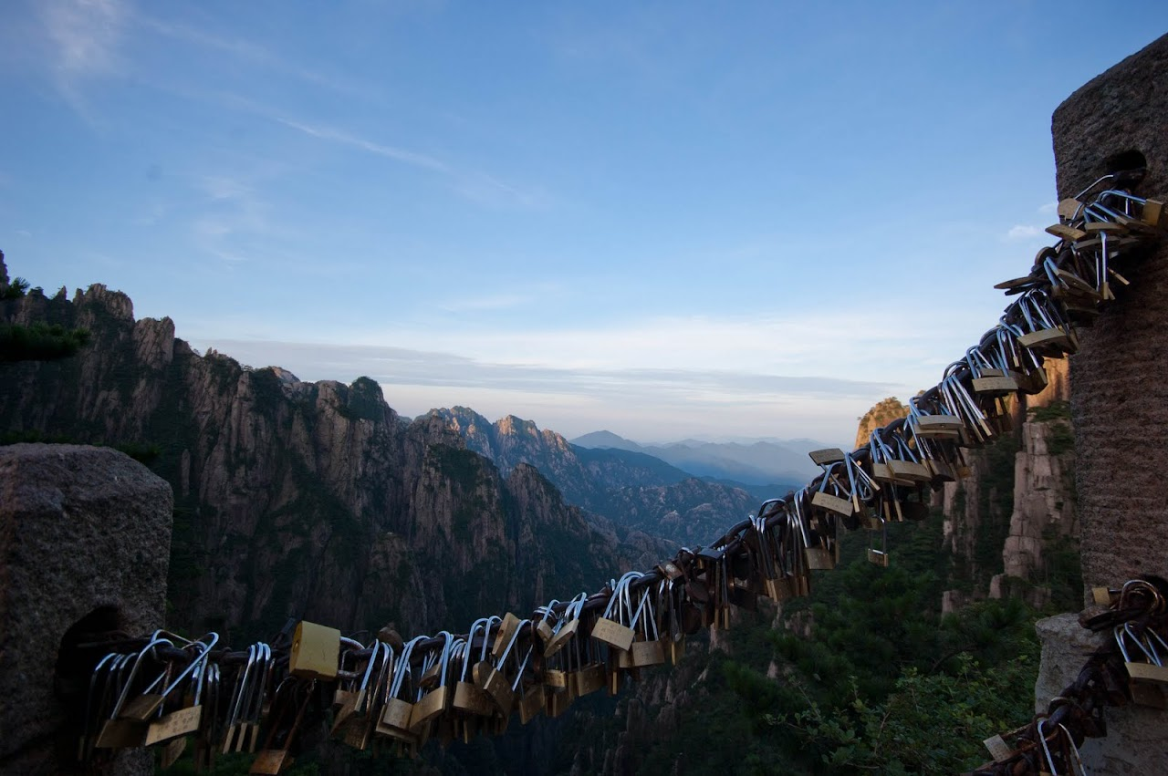 Locks of love at Huang Shan