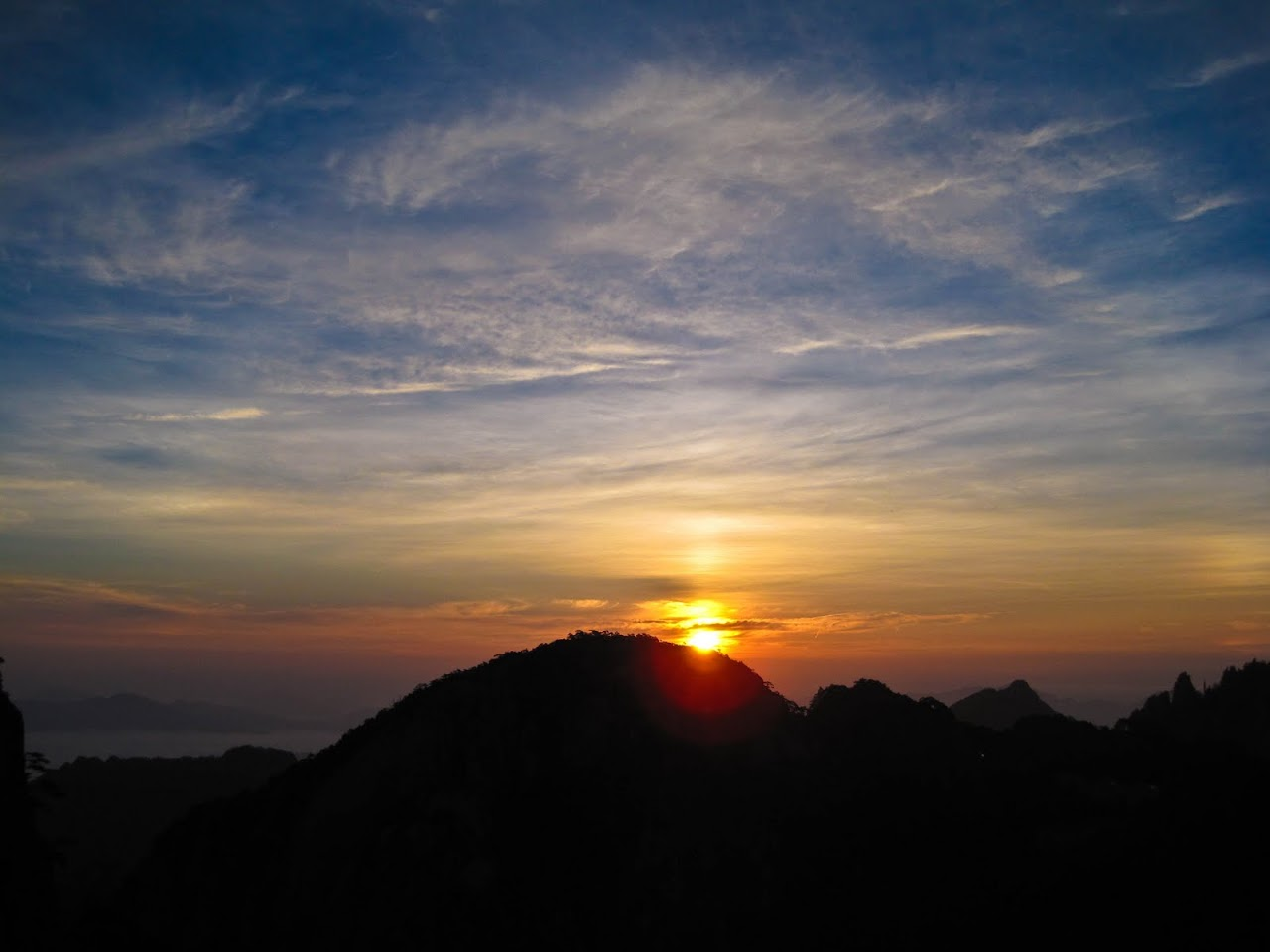 Sunrise in Huang Shan