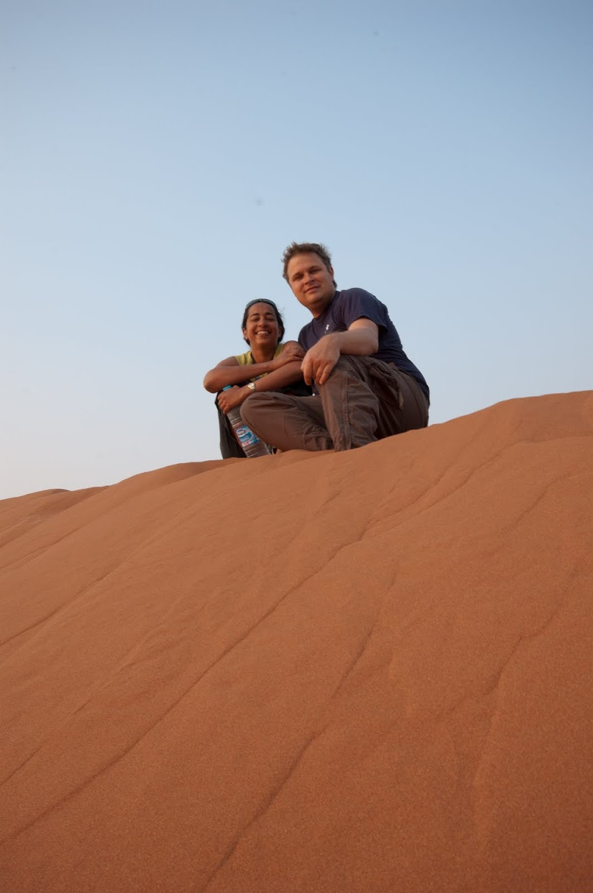 Us at the Namib desert dunes
