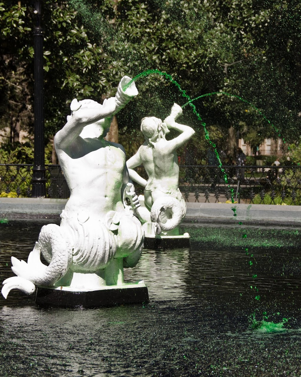 Savannah St. Patrick's fountain