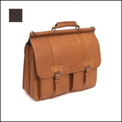 Mind Your Own Business - 5 ½- Double Gusset Dowel Rod Portfolio-Laptop Case