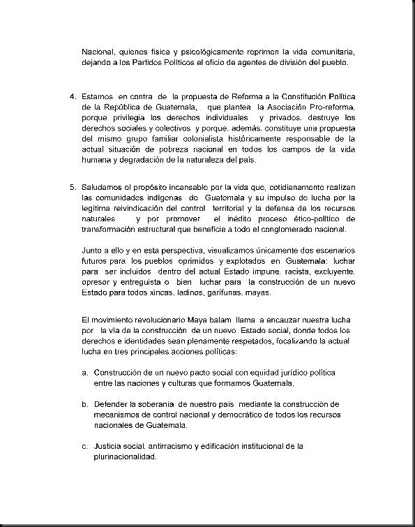 Posicion Politica del Movimiento Revolucionario Maya Balam a Enero del 2010_Page_2