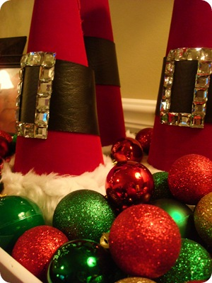 DIY red Santa hats