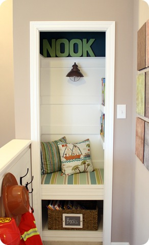 closet book nook