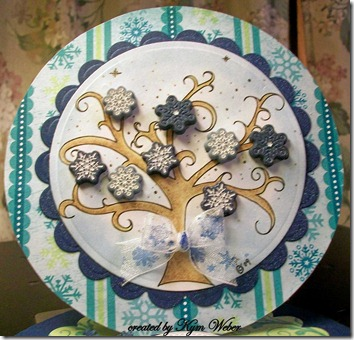 Snowflake Tree Easel Card1