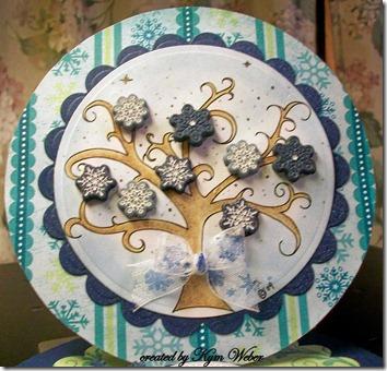 Snowflake Tree Easel Card1
