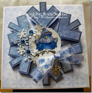 Snowflake Easel Candy Box Card2
