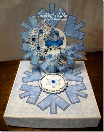 Snowflake Easel Candy Box Card
