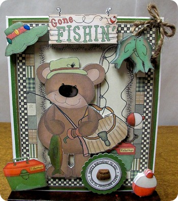 Fishing Bear and Tackle Box