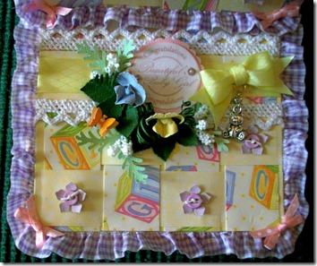 Baby Girl Easel Gift Box Card2
