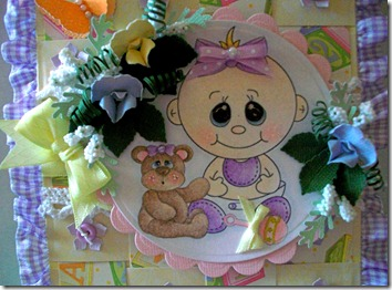 Baby Girl Easel Gift Box Card3