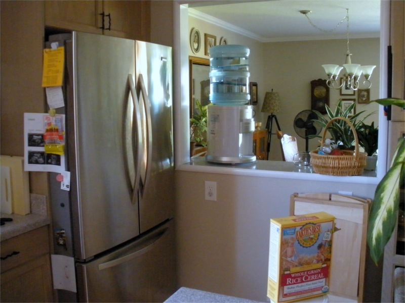 I Really Enjoy The Little Pass Through We Have Between Kitchen And Dining Room Am Also Glad Splurged Bought French Door Refrigerator