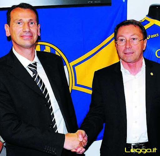 Il diesse Bonato col presidente Martinelli