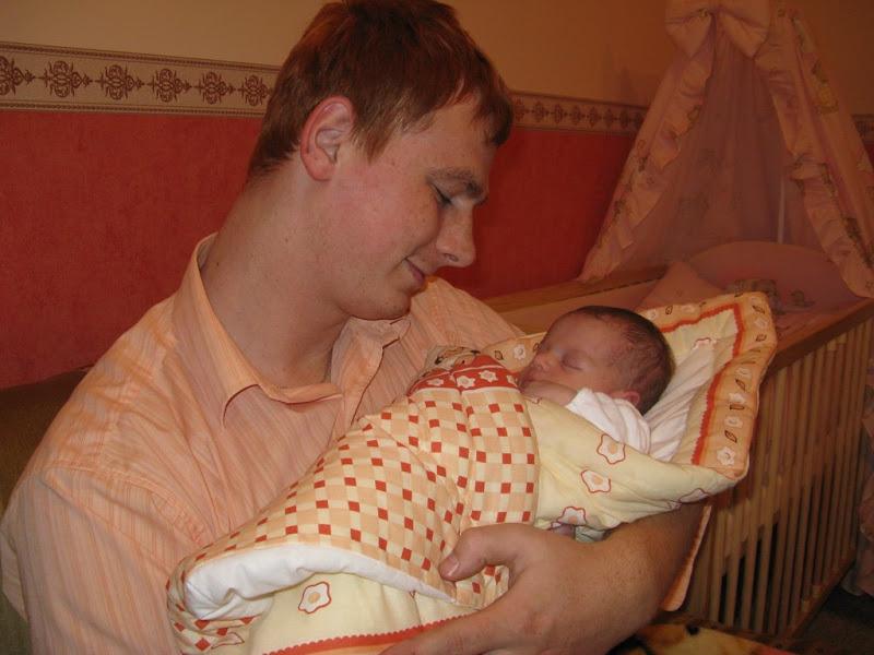 Golden Retriver tata i dziecko