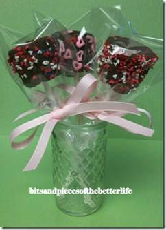 Chocolate Marshmallow Valentine Pop0