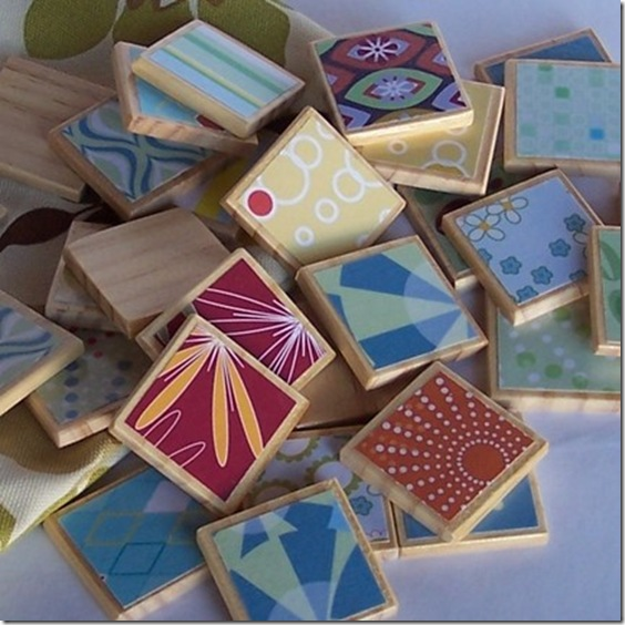 wooden matching game handmade