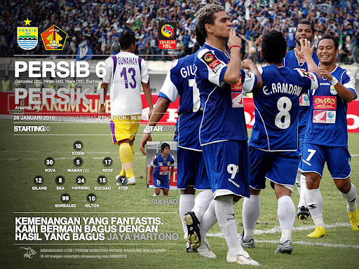 Wallpaper Persib vs Persik 2009/2010