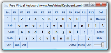 Free Virtual Touch Screen Keyboard Software