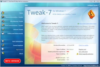 Tweak-7 for Windows 7  Tweaking and Optimization