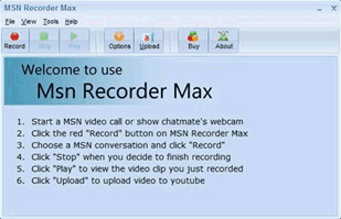 Save Windows Live Messenger Webcam