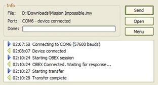 Sony-Ericsson SendFile