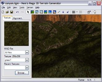 3D Terrain Generator for Quake Game Engine
