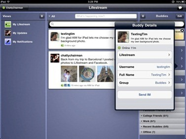 Free AIM for iPhone iPod Touch iPad with Facebook, Twitter