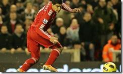 Luis Suarez on target against Stoke