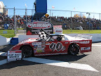Heat race win for #40P Charlie Gallant at Peterborough Speedway, October 9, 2010