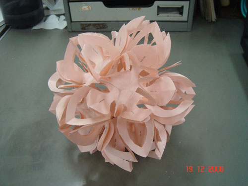 make a ball flower from paper