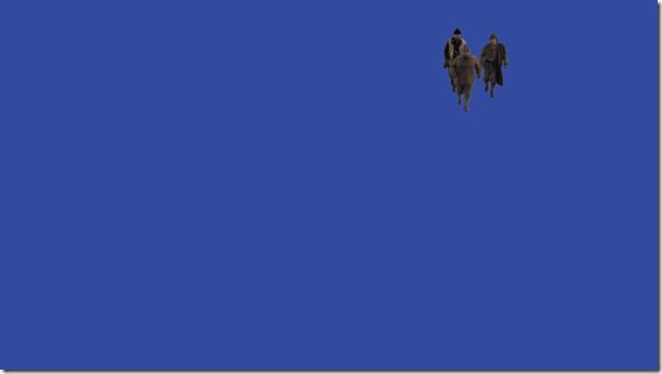 Кадры отснятые на синем экране
