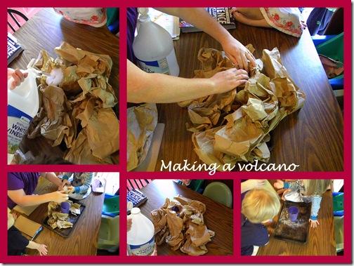 volcano collage