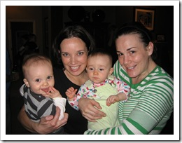Mommas & Babies! Me & Reid and Amie & Raquel, 1-23-10