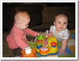 Ava & Reid - 7 months, 10-21-09