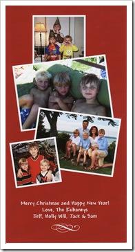 The Kubaney Family: Holly, Jeff, Will, Jack & Sam