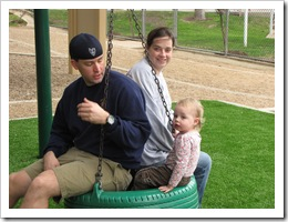 James, Steph and Avery at the park.