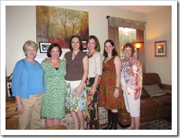 Susan Watson, me, Kellie Martini, Stacey Bossert, Stephanie Flores (sister), Betsy Allaire (mom)